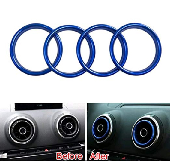 4x Interior Front Dashboard Air Vent AC Outlet Cover For Audi A3 S3 8V 2013-2016