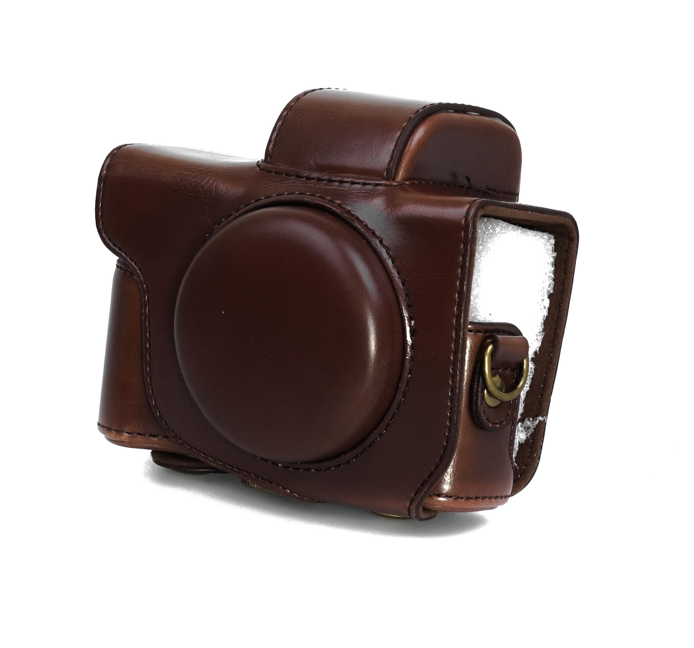 Kameratasche Etui für Canon EOS M6 MARK II Kunstleder Tasche schwarz CC1130a