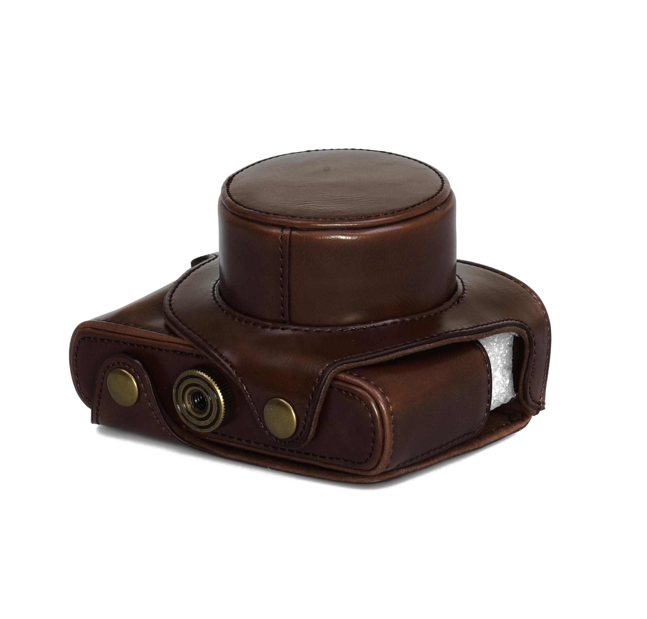 Estuche carcasa para Leica V-Lux tipo 114 piel sintética bolso Coffee cc1282b
